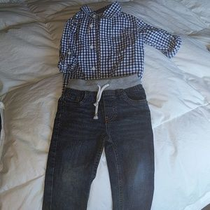 2t button down and jeans